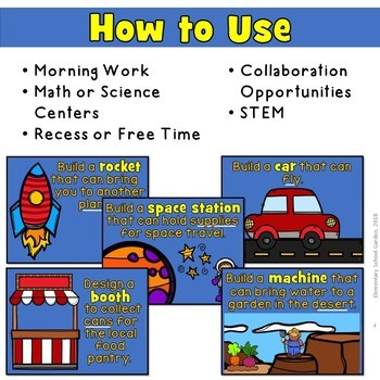 STEM Prompts for Collaboration (Morning Work, Collaboration, Centers, Fun)