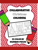 Collaborative Christmas Coloring Poster