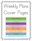 Collaborative Classroom Weekly Plans Covers - 1st Grade