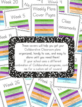 Collaborative Classroom Weekly Plans Covers - 2nd Grade