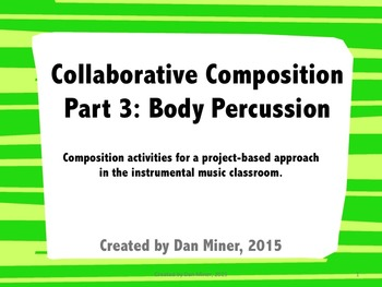 Collaborative Composition: Body Percussion