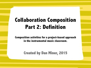 Collaborative Composition: Word Definitions