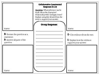 Collaborative Constructed Response Grade 3 Unit 1 (HMH Journeys)