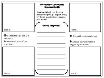 Collaborative Constructed Response Grade 3 Unit 3 (HMH Journeys)