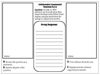 Collaborative Constructed Response Grade 4 Unit 1 (HMH Journeys)