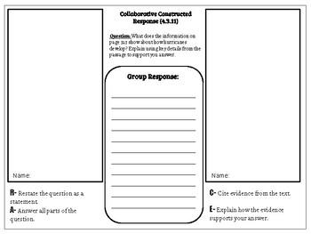 Collaborative Constructed Response Grade 4 Unit 3 (HMH Journeys)