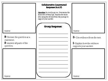 Collaborative Constructed Response Grade 4 Unit 4 (HMH Journeys)