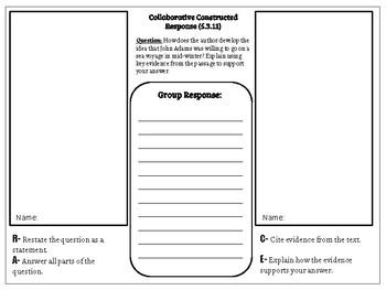 Collaborative Constructed Response Grade 5 Unit 3 (HMH Journeys)
