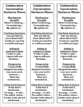 Collaborative Conversation Bookmarks with Self Evaluation Checklist