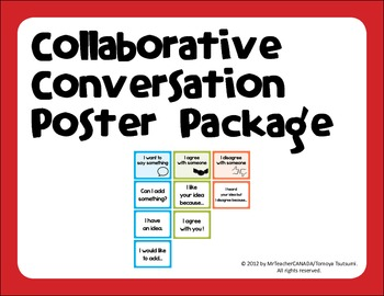 Collaborative Conversation Poster (Say Something, Agree & Disagree with Someone)