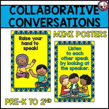 Collaborative Conversation Posters!  Behavior for K-2  Bul