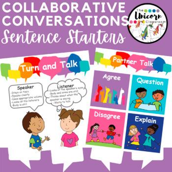 Collaborative Conversation Sentence Starters