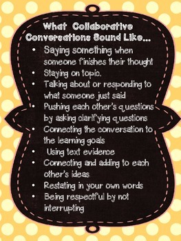 Collaborative Conversation Sticks {for ELA}