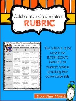 Collaborative Conversations FREEBIE {Intermediate Grades Rubric}