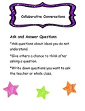 Collaborative Conversations Poster 3/Anchor Chart-Reading Wonders-Ask Questions