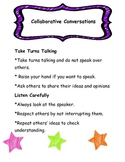 Collaborative Conversations Poster/Anchor Chart-Reading Wonders