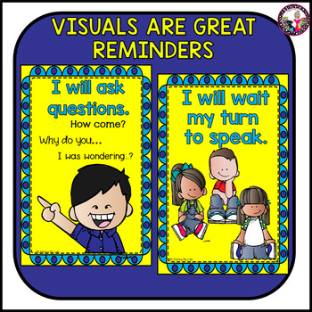 Collaborative Discussions!  Mini Posters for Expectations & Behavior Gr. 3-5