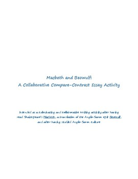 Collaborative Essay for Beowulf and Macbeth