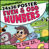 Collaborative Even & Odd Numbers Coloring Activity | Odds & Evens Poster