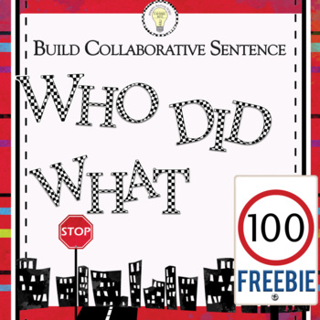 FREEBIE Collaborative Fold Over Sentence Story/ Subject an