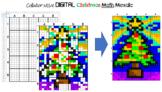 Collaborative Google Sheet Christmas Math Mosaic, Linear E