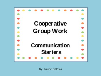 Collaborative Group Communication Starters