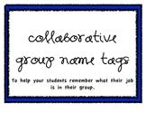 Collaborative Group Name Tags