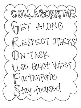 Collaborative Groups Chart