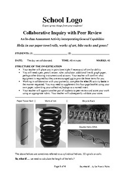 Collaborative Inquiry with Peer Review: Length of Helix