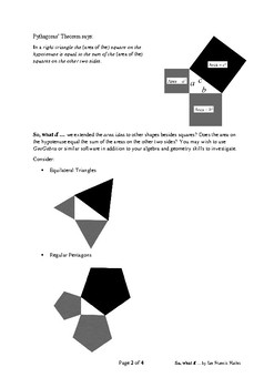 Collaborative Inquiry with Peer Review: Pythagoras beyond squares