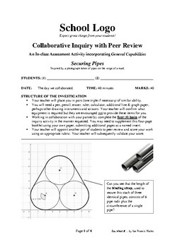 Collaborative Inquiry with Peer Review: Securing Pipes