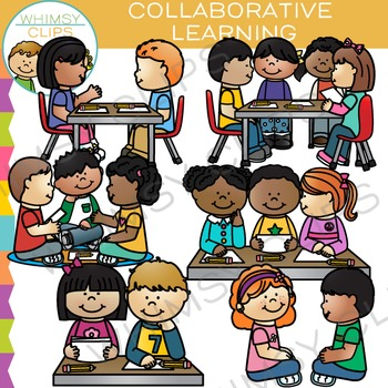 Collaborative Learning Clip Art by Whimsy Clips | TpT