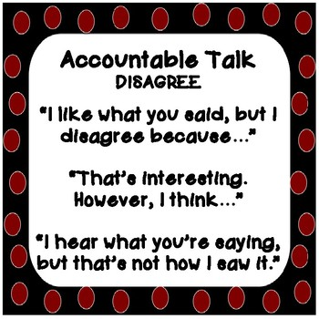 Collaborative Learning Group Job Cards, Accountable Talk Cards and Posters -Dots