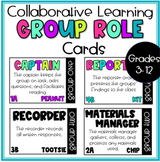 Collaborative Learning Group Role Cards- EDITABLE