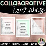 Collaborative Learning Posters {Marble Minimalist: Blush,