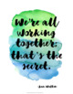 Collaborative Learning Quote Posters {36 Watercolor Signs: Classroom Decor}
