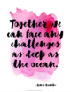 Collaborative Learning Quote Posters {36 Watercolor Signs: