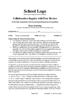 Collaborative Learning with Peer Review: Deep Learning