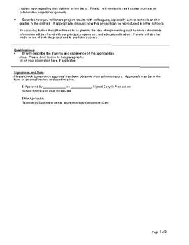 Collaborative Mobile Desks Grant Proposal