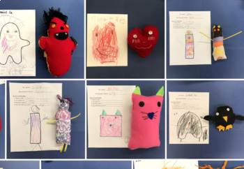 Collaborative Monster Sewing Project Kindergarten and High School