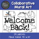Collaborative Mural Art: Back to School Dino