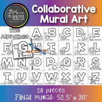 Collaborative Mural Art: The Alphabet