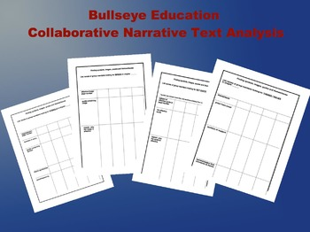Collaborative Narrative Text Analysis: Four Grid Worksheets
