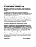 Writing Peer Feedback Activity (literary analysis / analyt