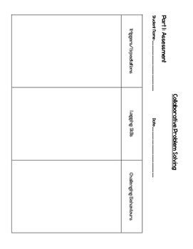 Collaborative Problem Solving Sheets