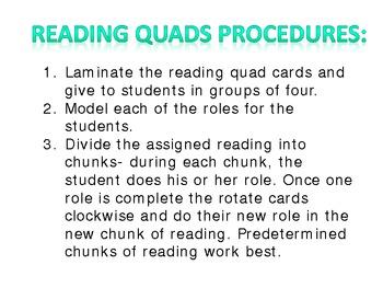 Collaborative Reading Quads Freebie