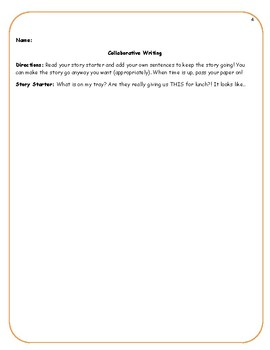 Collaborative Writing Story Starters