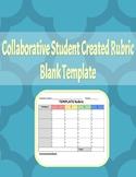 Collaborative Student Created Rubric Template