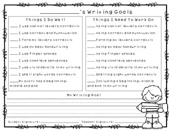 Collaborative Student Writing Goals