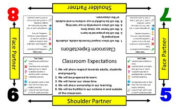 Collaborative Table Mats- Groups of 4